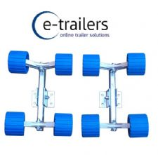 Boat- Jet Ski - Trailers - 8 Wobble Roller System- multi fit- coaster style 250mm long for 40x60mm beam